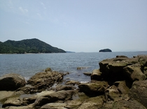 宮島のビーチ