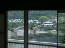 川側和室から眺める錦帯橋