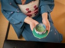 ご到着された後は、お茶を飲んでホッと一息。