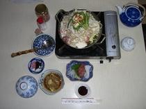 夕食 もつ鍋定食(国内産)