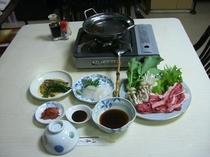 夕食 しゃぶしゃぶ定食(国内産)