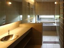 2~4名様用デラックスコテージ「フォンス」の浴室
