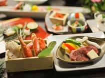 【春のオススメ会席】日本海直送「ずわい蟹鍋」「牛フィレステーキ」そして「鰆の焼き物」