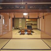*【12畳バス・トイレ付1】一例。有形文化財として2010年登録されました。和風建築を堪能ください。