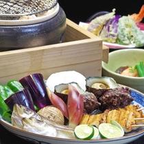*【冬のお料理 炙り焼き】2 旬の海鮮素材と焼き野菜を炭火で炙って。