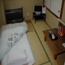 出張・一人旅にゆったり和室シングルユース・バストイレ付有線LAN完備