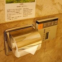 全客室、温水洗浄便座を備え付けております。