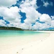 白い砂浜が広がる全長550メートルの『きらきらビーチ』