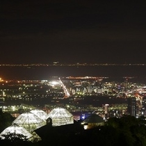 布引ハーブ園からの夜景