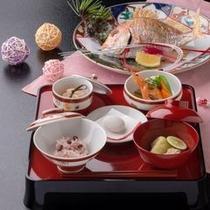 ■お喰い初め料理・祝い鯛付き(一例)