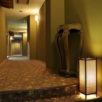 落ち着いた雰囲気の山荘特別室棟