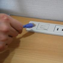 全室光インターネットLAN配線完備