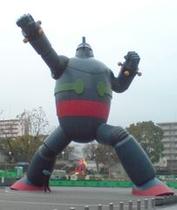 新長田の名所「鉄人28号像」