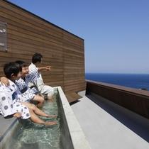 ■ 屋上の足湯スカイテラス「湯め凪」(ゆめなぎ)