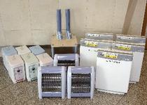 ロビーにて空気清浄機・加湿器・電気スタンドなどを貸し出しております。