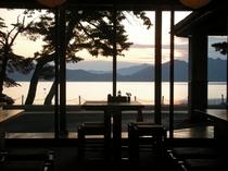 レストランからの田沢湖