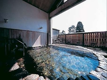 一枚窓の大浴場