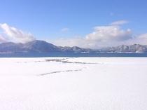 たざわ湖 冬景色
