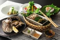 岩牡蠣の膳(料理一例)
