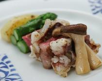 イカ軟骨と山形牛ステーキ