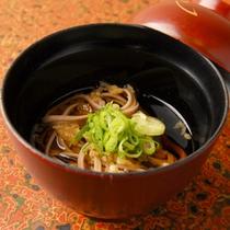 *夕食一例(そば)