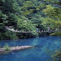 *寸又峡「夢の吊り橋」