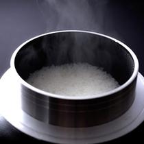 朝食 釜炊き