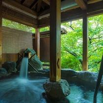 露天風呂(山み津み湯)