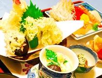 天ぷら刺身定食