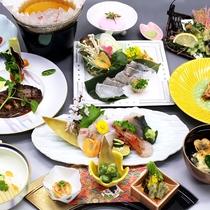 【夕食一例】瀬戸内の魚介・吉備高原の旬の味覚をご賞味ください(春)