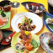 【夕食一例】瀬戸内の魚介・吉備高原の旬の味覚をご賞味ください(秋)