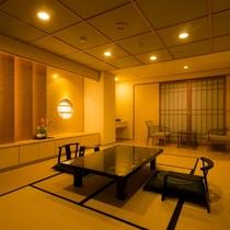 本館・菊の時季フロア「菊万葉」(半露天風呂付きタイプ)和室一例