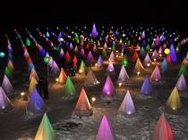 【彩凛華】光と音のファンタジックショー。約667コもの光が幻想的な夜景をつくり出します。