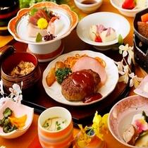 【子供会席例】お刺身、陶板にプラス洋食など大人料理に準じた子供向けの会席です。