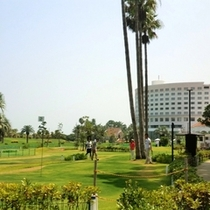 【あおパゴ】常緑グリーンのパークゴルフ場(ホテルより徒歩10分)