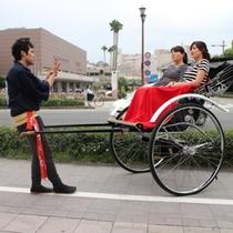 ホテル吹上荘周辺を人力車で観光されてみませんか??