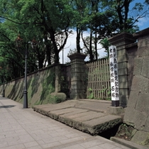 鹿児島県指定記念物の私学校跡石碑