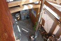 上から見た薪ストーブ