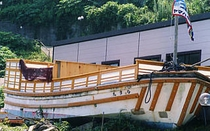 船の露天風呂全景