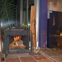 趣のある暖炉