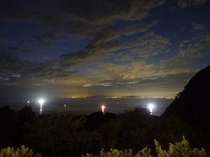夜景・イカ釣り