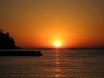 土肥海岸からの夕日
