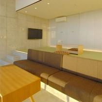モダンな内装のスイートルーム