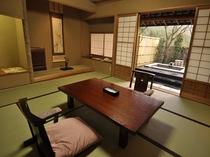 離れ客室(一例)  居心地良すぎて急きょ、連泊されるお客様も後を絶ちません。