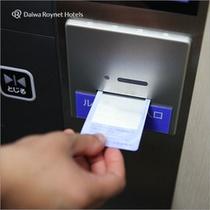 安心セキュリティー・客室階へ上がる際はお部屋の鍵が必要です
