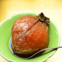ご夕食一例/干し柿のデザート