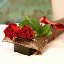 欧米のバレンタインは、男性が女性に花を贈る事が一般的です