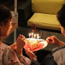 ハートケーキでお祝い♪