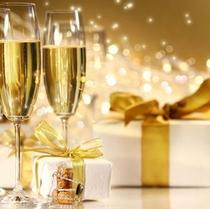 クリスマス★シャンパンで聖夜に乾杯!