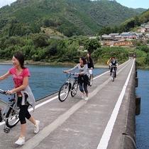 """四万十川といえば""""沈下橋""""♪自転車で渡っちゃおう!"""